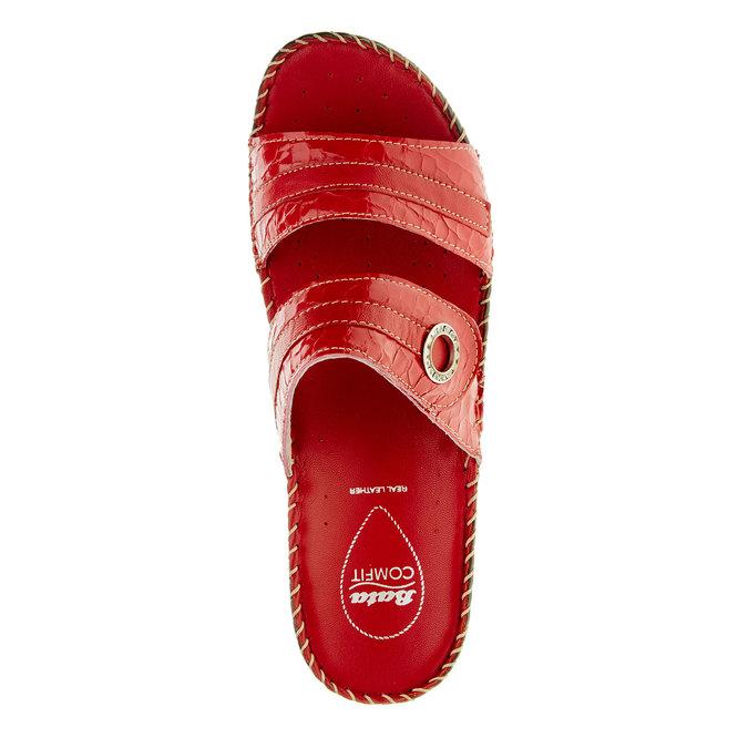 Dámske papuče na klinovom podpätku comfit, červená, 674-5249 - 19
