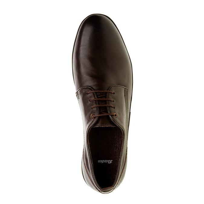 Pánske kožené poltopánky bata, hnedá, 824-4300 - 19