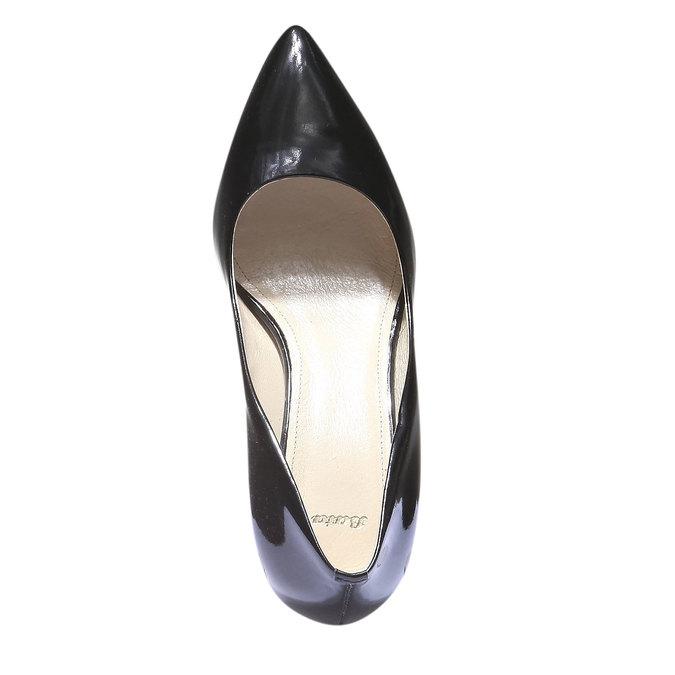 Lodičky s predĺženou špičkou bata, čierna, 628-6100 - 19