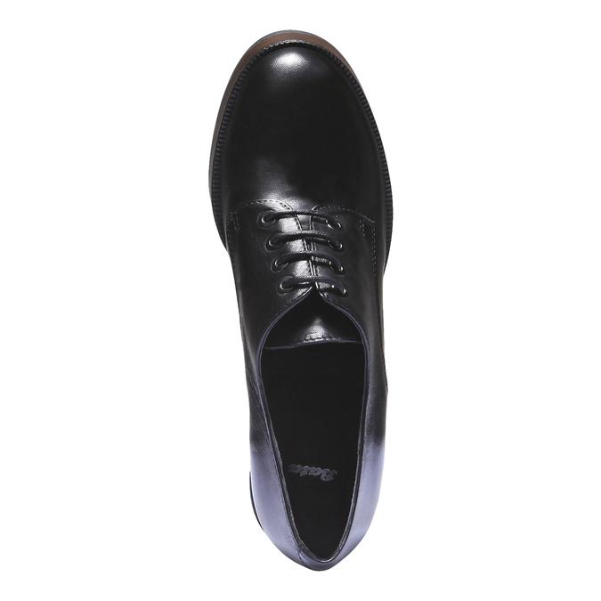 Dámské poltopánky na podpätku bata, čierna, 724-6873 - 19
