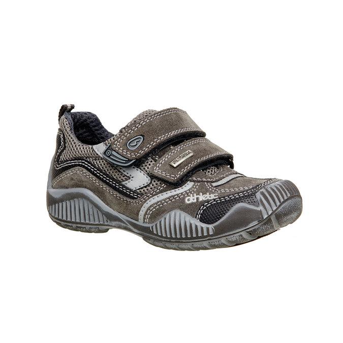 Detské kožené tenisky na suchý zips mini-b, šedá, 213-2130 - 13
