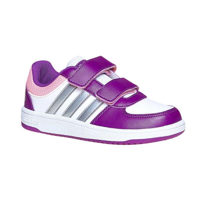 Detské tenisky na suchý zips adidas, fialová, 301-1167 - 13