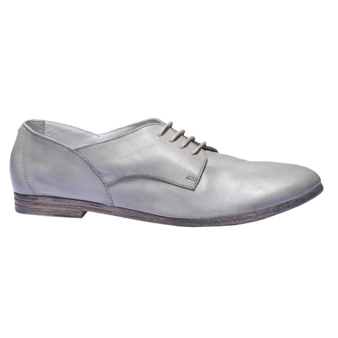 Kožené poltopánky bata, šedá, 524-2169 - 13