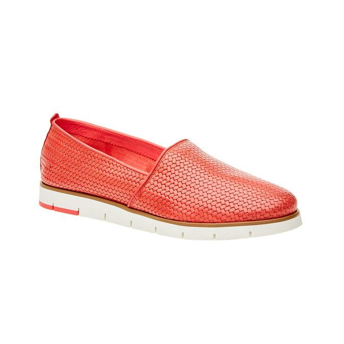 Dámske Slip on s pleteným vzorom flexible, červená, 515-5203 - 13