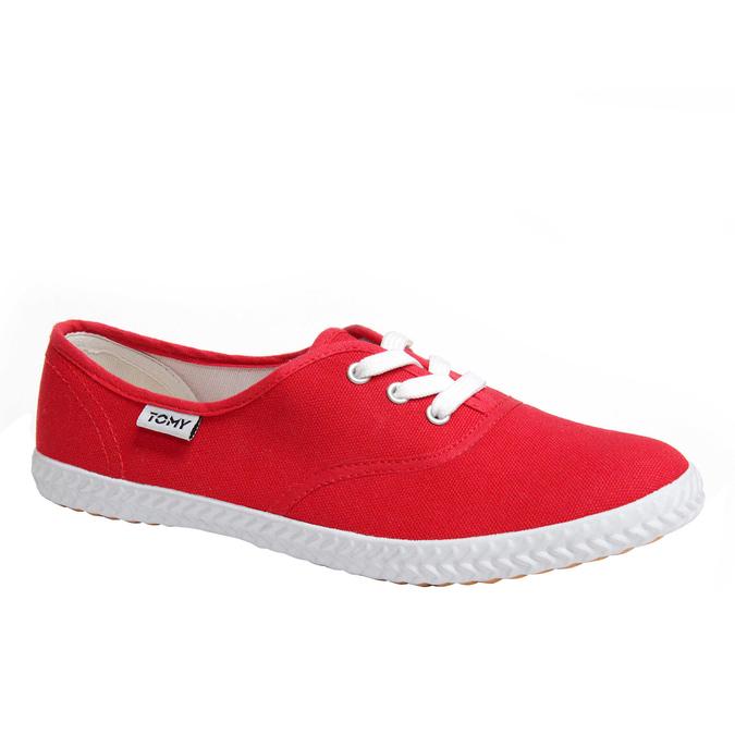 Plátenné tenisky tomy-takkies, červená, 519-5105 - 13