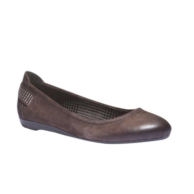 Kožené baleríny bata, hnedá, 526-4101 - 13