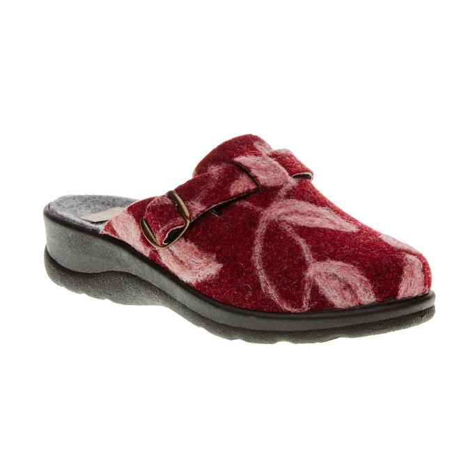 Domáca obuv bata, červená, 579-5221 - 13