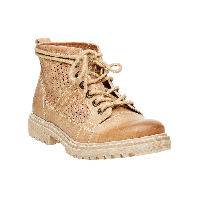 Kožené členkové topánky weinbrenner, hnedá, 594-4138 - 13