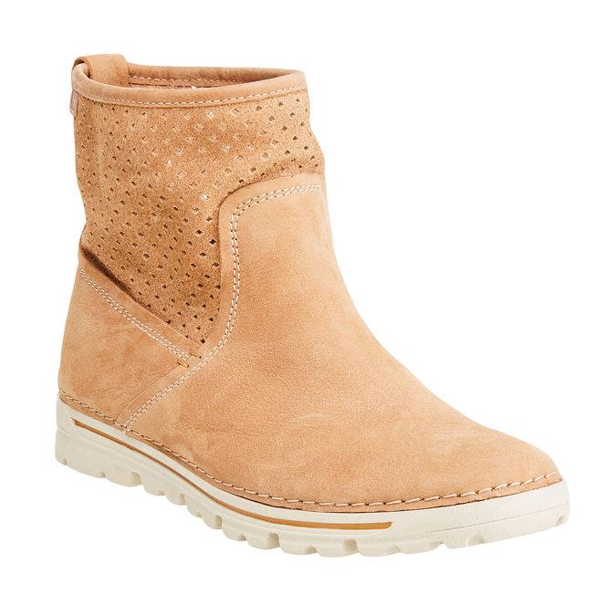 Kožené členkové topánky weinbrenner, hnedá, 596-4121 - 13