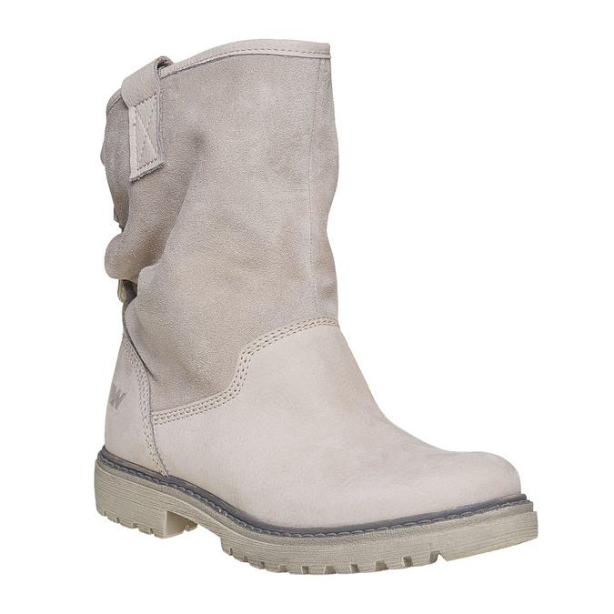 Kožená členková obuv weinbrenner, béžová, 596-8405 - 13
