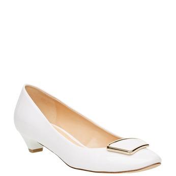 Lodičky na nízkom podpätku bata, biela, 621-1201 - 13
