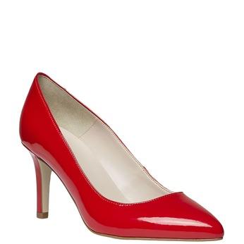 Červené kožené lodičky bata, červená, 728-5955 - 13