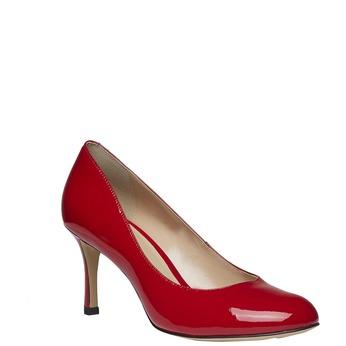 Červené kožené lodičky bata, červená, 728-5953 - 13