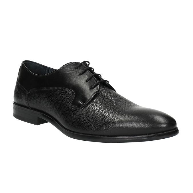 Pánske kožené poltopánky bata, čierna, 824-6709 - 13