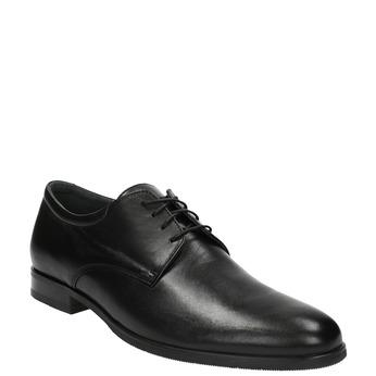 Kožené poltopánky v Derby strihu bata, čierna, 824-6676 - 13