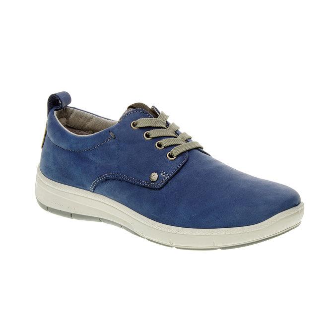 Ležérne kožené poltopánky, modrá, 843-9630 - 13