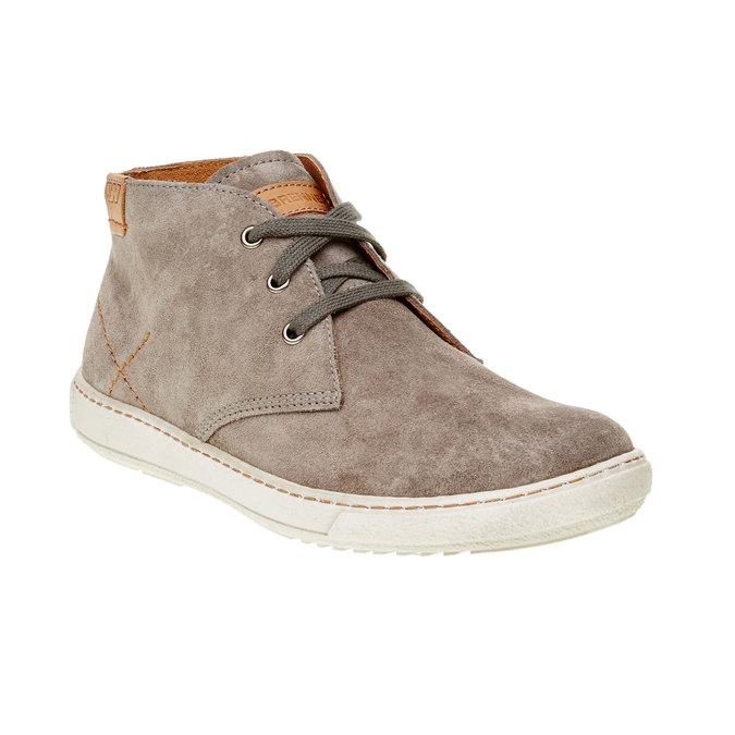 Pánska kožená obuv weinbrenner, hnedá, 843-2661 - 13