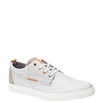 Ležérne kožené tenisky bata, šedá, 844-2310 - 13