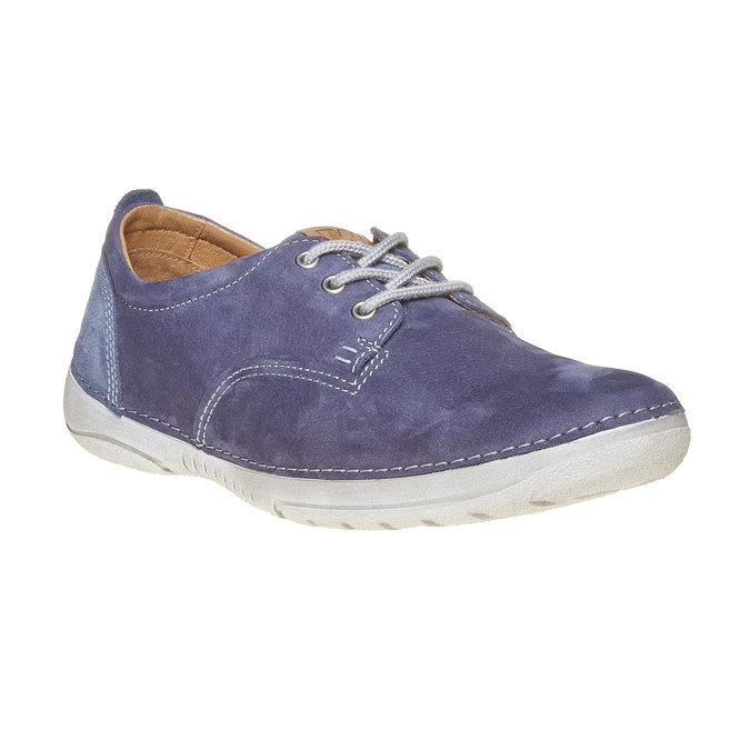 Pánska kožená obuv weinbrenner, modrá, 846-9657 - 13