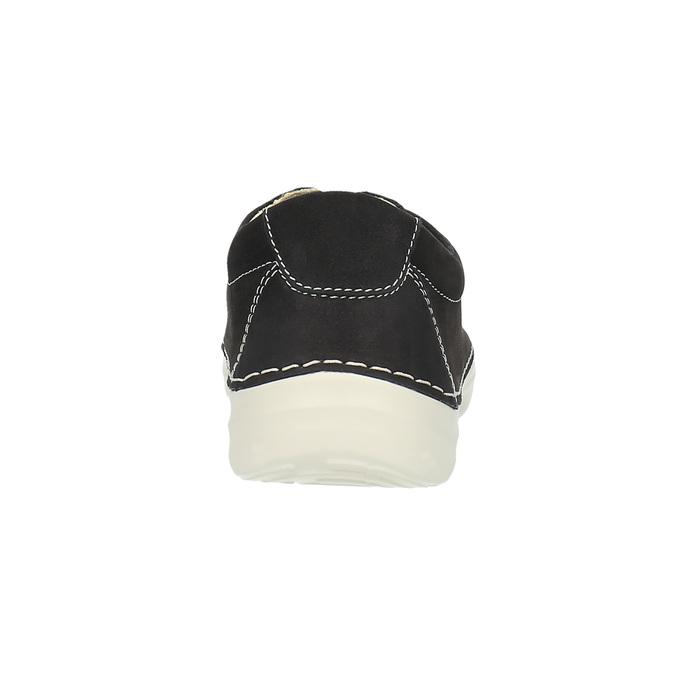 Kožené ležérne tenisky flexible, čierna, 526-6603 - 17