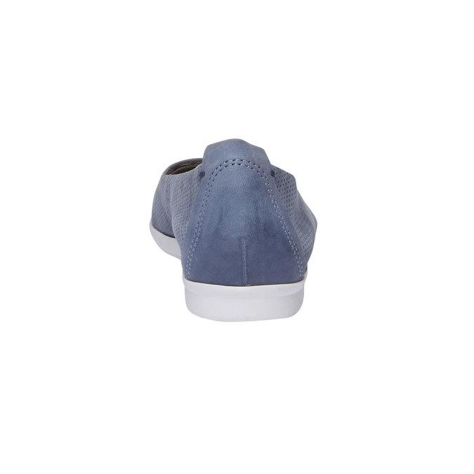 Kožené baleríny s perforáciou bata, modrá, 526-9486 - 17