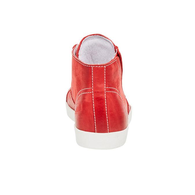 Kožené členkové tenisky bata, červená, 524-5310 - 17