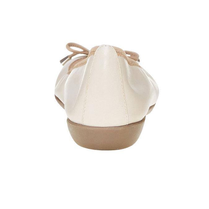 Dámske kožené baleríny bata, béžová, 524-8485 - 17