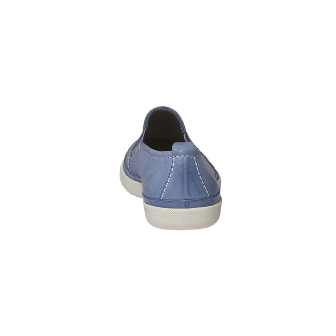 Kožené Plim Soll topánky s perforáciou bata, modrá, 514-9197 - 17