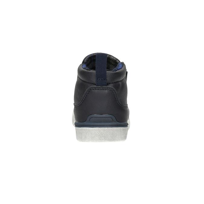 Detská členková obuv typu Slip-on north-star, modrá, 411-9603 - 17