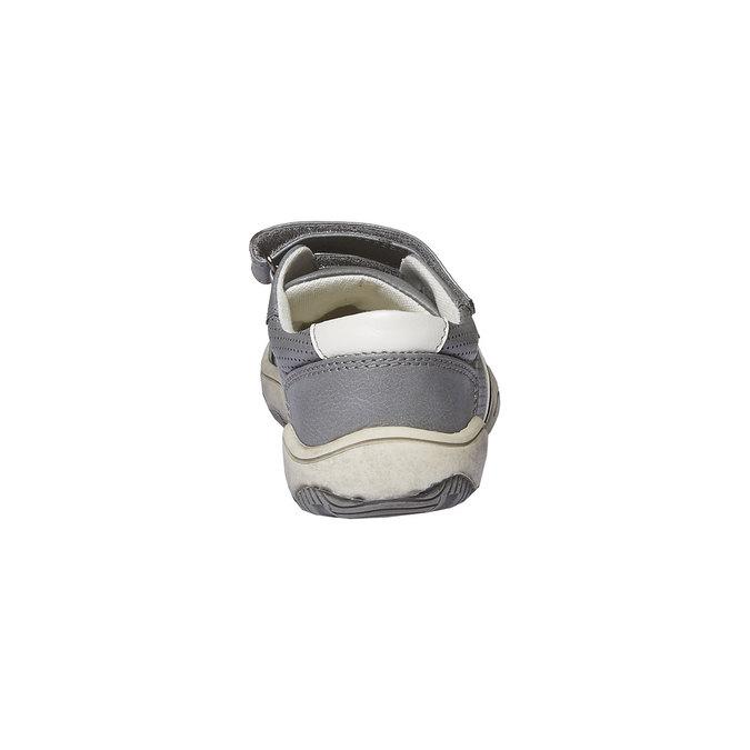 Detské tenisky na suchý zips mini-b, šedá, 311-2214 - 17