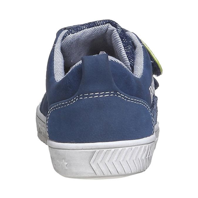 Detské tenisky na suchý zips mini-b, modrá, 211-9157 - 17