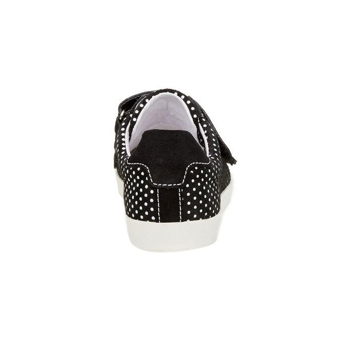 Kožené tenisky s bodkami weinbrenner, čierna, 526-6300 - 17