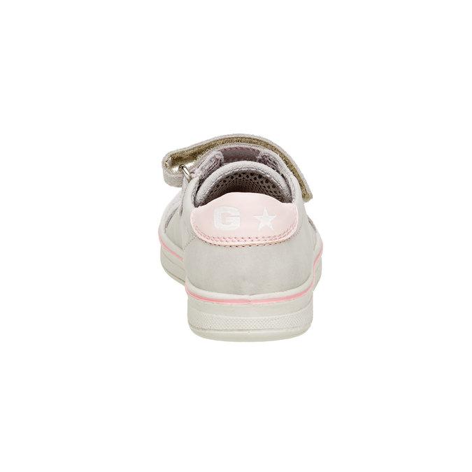 Detské kožené tenisky mini-b, šedá, 323-2120 - 17