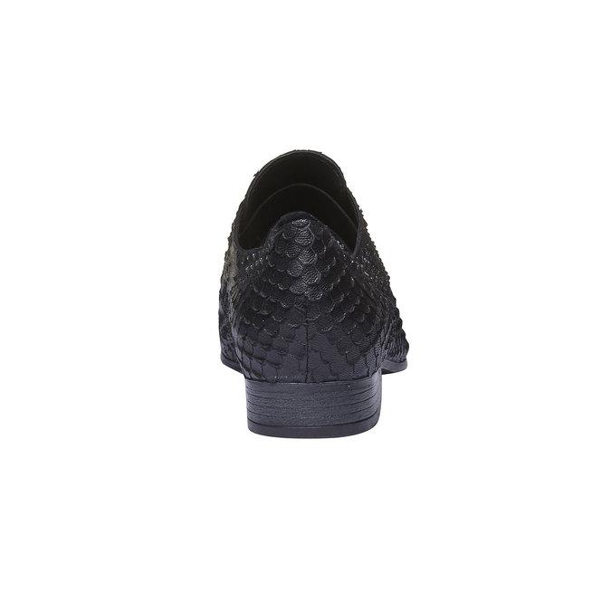 Dámske kožené poltopánky bata, čierna, 514-6212 - 17