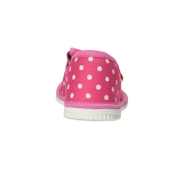 Dievčenská domáca obuv s bodkami bata, ružová, 279-5103 - 17