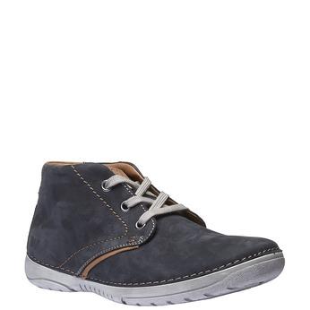 Kožená členková obuv weinbrenner, šedá, 896-9442 - 13