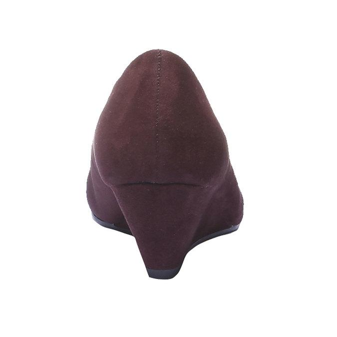 Lodičky na klinovom podpätku bata, fialová, 729-5231 - 17