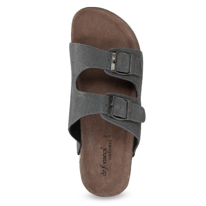 Pánska domáca obuv de-fonseca, šedá, 873-2610 - 17