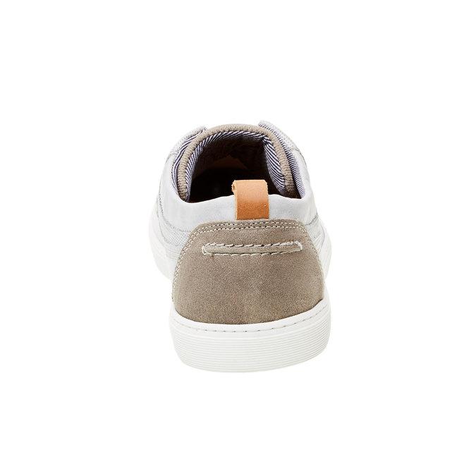 Ležérne kožené tenisky bata, šedá, 844-2310 - 17