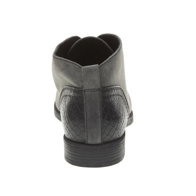 Členkové poltopánky bata, šedá, 591-6132 - 17