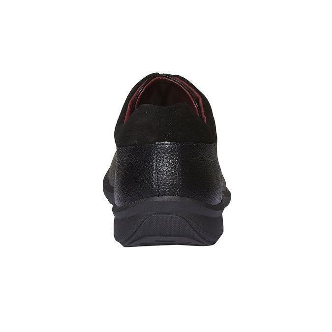 Kožené pánske poltopánky comfit, čierna, 824-6315 - 17