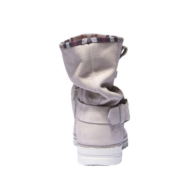 Kožená obuv s farebným lemom weinbrenner, 596-8311 - 17