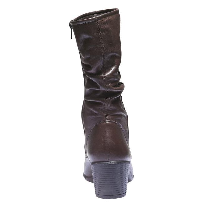 Kožené čižmy bata, hnedá, 694-4112 - 17