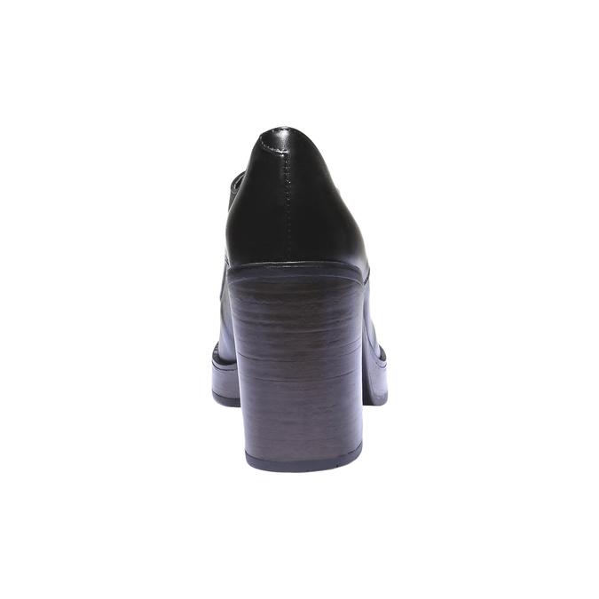 Dámské poltopánky na podpätku bata, čierna, 724-6873 - 17