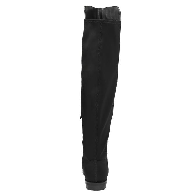 Dámské čižmy nad kolená bata, čierna, 591-6604 - 17
