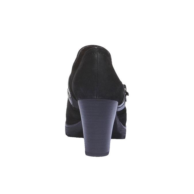 Kožené členkové čižmy s remienkom bata, čierna, 696-6102 - 17