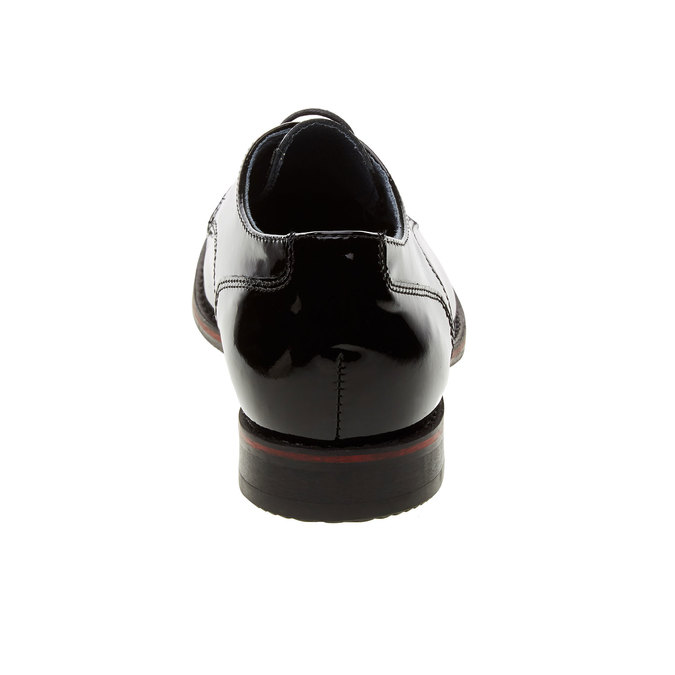 Dámske poltopánky z lakovanej kože bata, čierna, 528-6117 - 17