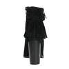 Kožené členkové čižmy so strapcami bata, čierna, 793-6602 - 17