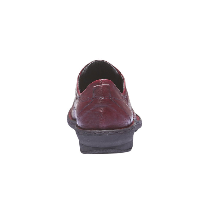 Dámska kožená obuv bata, červená, 624-5111 - 17