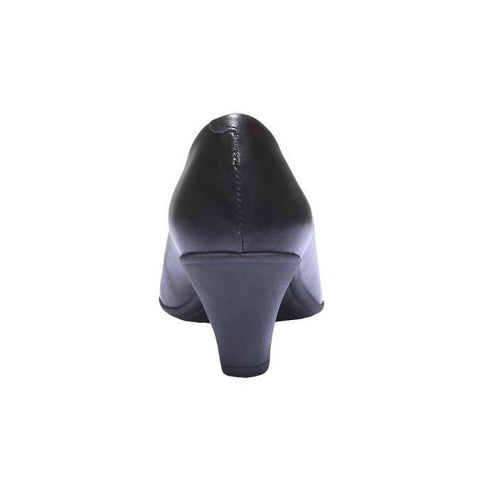 Kožené lodičky flexible, čierna, 624-6221 - 17